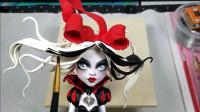 手工DIY:将芭比重新美妆打造成白雪公主黑暗风!