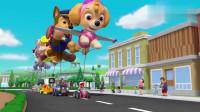 汪汪队:狗狗们的气球飞上天啦,这次游行好开心呀