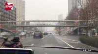 封城第一天的武汉街头:路上一路畅通,行人都戴上口罩