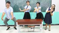 学霸王小九短剧:新同学报到第一天,就要和学霸一决高下,谁赢了谁是学霸,下集