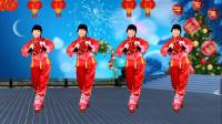 2020贺岁新年舞《过年啦》歌曲欢快喜庆,舞蹈简单好看又好学