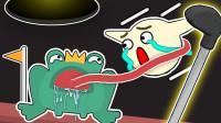 高尔夫模拟器 我要逃脱青蛙的长舌头,才能顺利进洞!小熙解说