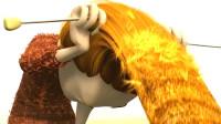 女子迷上编织,但毛线不够用,她居然把头发织成了围巾