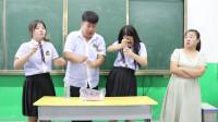 学霸王小九短剧:老师请学生吃爆辣鸭脖,结果吃饱喝足才发现是个套路,太逗了