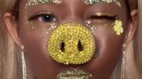 漂亮精致的非洲猪猪女孩卸妆了,真的是太惊艳了,你喜欢吗?