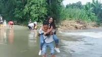 单身男人去缅甸三个月,背了一个缅甸老婆回家,墙都不扶就服你!