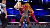 WWE:掌掴贝基林奇,拉娜缴械投降拍地认输,可惜了