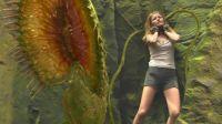 女孩跌入无底深渊,遭遇巨型食人草!速看科幻电影《地心历险记》