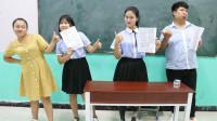 """老师让学生玩""""色字干扰"""",全班都不会,没想女学霸一口气读完"""