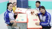 学霸王小九短剧:同学们用无硼砂泥做卡通人物,没想男同学做了一个猪八戒,真厉害