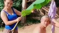 老哥来缅甸给儿子找媳妇,自己却意外找到老婆,怪不得这么高兴!