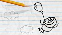 肌肉男显摆自己的肌肉 小鸟会害怕肌肉男吗?铅笔画小人游戏