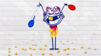 神奇的三色球 竟然会发出电?铅笔画小人游戏