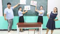 涂鸦课,老师给学生每人一个涂鸦板,没想学生涂的一个比一个有趣