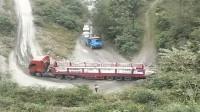 这才是正宗的盘山弯道,在这里开大货车没有30年驾龄直接别来,很危险的!