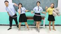 学霸王小九校园剧:学生比赛转呼啦圈,第一名奖励大象娃娃,没想被女同学一口气赢得