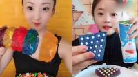 萌姐试吃:彩色珍珠果冻、果冻手镯糖,香甜美味,你想吃吗