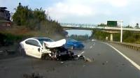 行车记录仪实拍:春节假期疲劳驾驶,连环事故让人伤不起