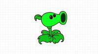 植物大战僵尸简笔画:画豌豆射手简笔画,卡通简笔画大全