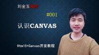 html5+canvas开发#001 认识canvas,制作第一个canvas程序#刘金玉编程