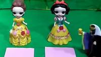 王后让白雪和贝儿比赛画苹果,谁画的好就可以去参加王子的舞会,你们觉得谁画的好呢?
