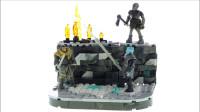 LEGO乐高积木玩具Mega Construx系列权力的游戏攻城之战套装速拼