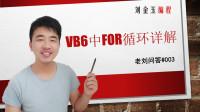 老刘问答#003 VB6中for循环详解#刘金玉编程
