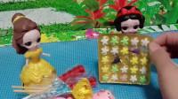 贝儿又好多糖果,白雪公主的星星糖被偷吃了,贝儿公主把自己的糖送给了白雪