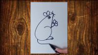 简笔画老鼠窦老师教画画