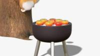 短腿小柯基:这个烤柿, 磨炼了多少人-搞笑-高清