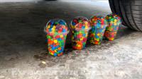 减压实验:汽车vs装满巧克力豆的塑料杯 请勿模仿