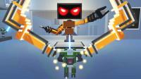 魔哒克隆机器人大乱斗:机械城堡关卡,我遇到个猪队友机器人