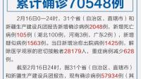 全国新增确诊2048例 累计确诊70548例