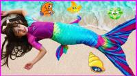 深海美人鱼仿妆,谁家漂亮的小可爱,跑到了大海?