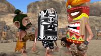趣味动画:野人部落拳击比赛