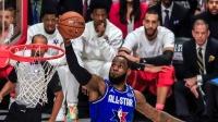 一分之差!詹皇完成扣篮与胜利更进一步 2020 NBA全明星正赛 1