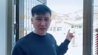 杨树林带网友出门看雪,被村头宣传口号劝退 好好吃饭 20200217