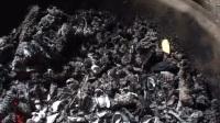 就剩我俩在这烤火了,还剩这些炭,在城市用炭取暖那都是有钱人办的事!