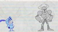 阿呆嘲笑盔甲人他会被盔甲人揍嘛?铅笔画小人游戏