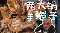 180元买4斤羊蝎子炖满满2大锅!肉质酥烂,筷子一捅骨髓全出来了