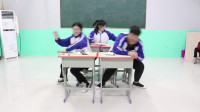 """学霸王小九短剧:同学们挑战吃网红""""脏脏包"""",谁吃的脸上最脏谁赢,结局太逗了"""