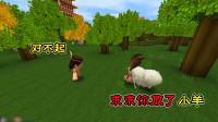 迷你世界:卡卡抓到一只小羊,母羊伤心难过,善良的卡卡放走它们
