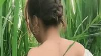 越南美女家里有甘蔗林,但找不到男朋友,回头的那一刻太惊艳了