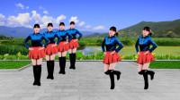广场舞《情歌飞出十三寨》32步踩点舞,简单俏皮又欢乐,分享给你