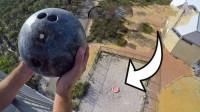 非牛顿流体承受力有多强?把保龄球从45米高扔下实验,意外发生了!