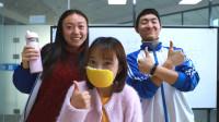 学校防疫考试,学生用柚子皮做防护面罩,太厉害了