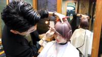 """这才叫""""时尚短发"""",韩式染色就是不一样,你那只是把头发剪短了"""