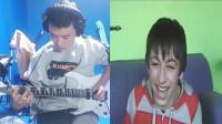 前方高能搞笑,给笑声做背景音乐吉他伴奏。