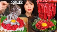 """韩国的""""生吃""""文化,大口生吃生牛肉+活章鱼,重口味吃法超乎你的想象"""