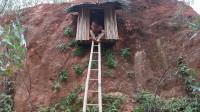 牛人在峭壁上挖豪宅容身,带半悬空式阳台,看上去太惊艳了!